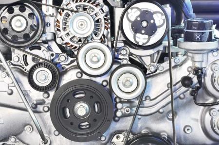Pièce de moteur de voiture - Gros plan image d'un moteur à combustion interne Banque d'images