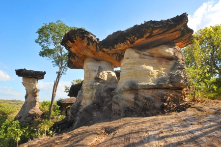 Pha Taem National Park in the Ubon Ratchathani province , Thailand photo