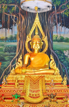 Golden Buddha in Thailand temple ,Bangkok photo