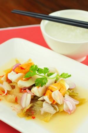 Thai egg salad and gruel  Banco de Imagens