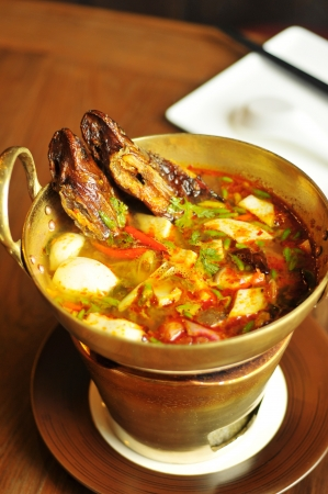 Sour and Spicy Smoked Dry Fish Soup  photo