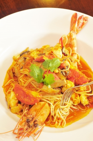 Tiger Prawn  Tom Yum  Noodles  photo