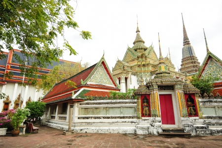 bangkok landmark: Buddhist temple, Wat Pho temple in Bangkok, Landmark and No  1 tourist attractions in Thailand