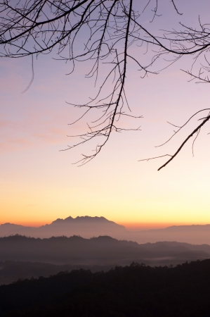 elusive: Chiang Mai morning on hilltop view,Thailand