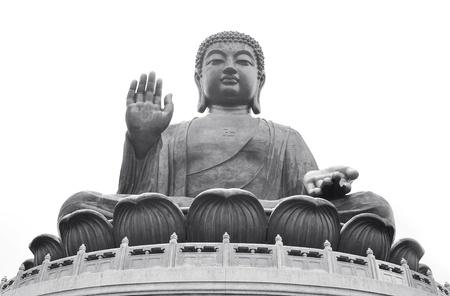po: Giant Buddha Po Lin Monastery in Hong Kong, Lantau Island  Stock Photo