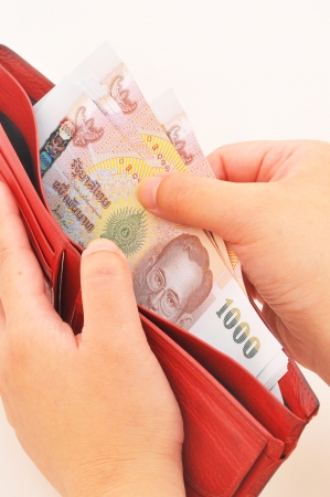 Wallet full of money, concept of wealth  photo