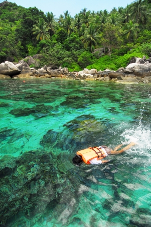 nangyuan: Tropical Island Paradise Koh Tao,Thailand  Stock Photo