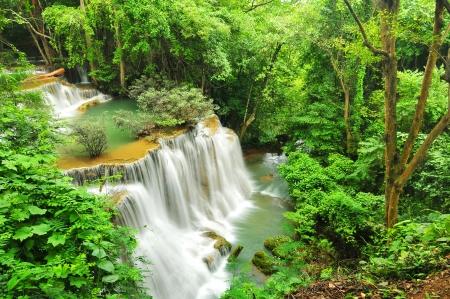 Huay Mae Khamin Waterfall, Kanchanaburi, Thailand Stock Photo - 24261793
