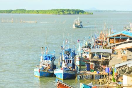 nu: Chanthaburi, Thailand  Nov 30 at the fishing village  Khaem Nu estuary 30 November 2013 at Laem Sing   Is the most important fishing port in Chanthaburi, Thailand
