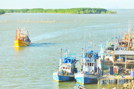 lake dweller: Chanthaburi, Thailand  Nov 30 at the fishing village  Khaem Nu estuary 30 November 2013 at Laem Sing   Is the most important fishing port in Chanthaburi, Thailand