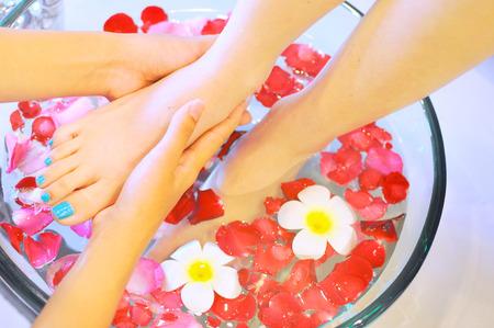 massage pied: Massage Foot Spa Banque d'images