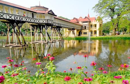 nakhon pathom: Chali Mongkol Asana, in the style of a European castle at Sanam Chandra Palace,  King Rama VI , Nakhon pathom, Thailand