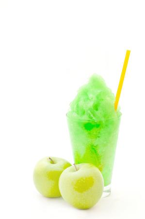 Green apple smoothie  photo