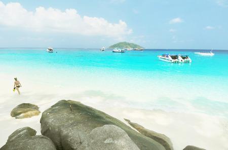 Tropical beach of Similan islands, Thailand  Editorial