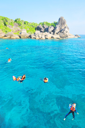 skin diving: Skin Diving, Similan Islands, Marine National Park, South of Thailand