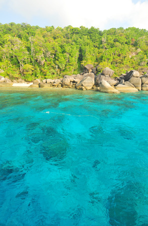 Beautiful sea and tropical island with crystal clear water, Similan Island, Thailand  photo