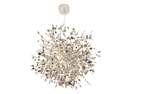 Luxury Chandelier isolated on white  photo