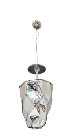 silver modern hanging lamp  photo