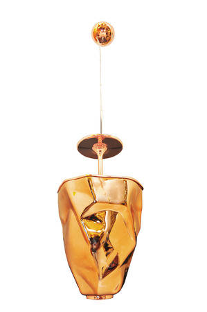 copper-red modern hanging lamp  photo