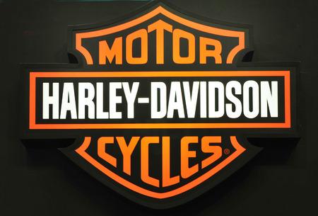 Bangkok thailand - MARCH 27  brand Harley Davidson Motor bike detail - Engine block at  Impact Arena Motorcycle Exhibition March 27, 2014 in bangkok thailand