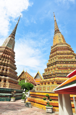 Authentic Thai Architecture in Wat Pho at Bangkok of Thailand photo