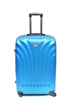 carryall: Travel luggage isolated on the white background Stock Photo