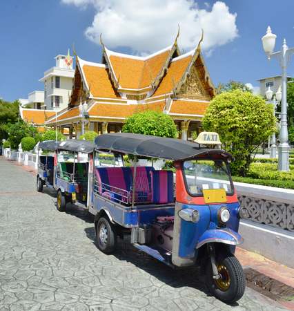 tuktuk: Tuk-Tuk vehicle urban in Bangkok Editorial