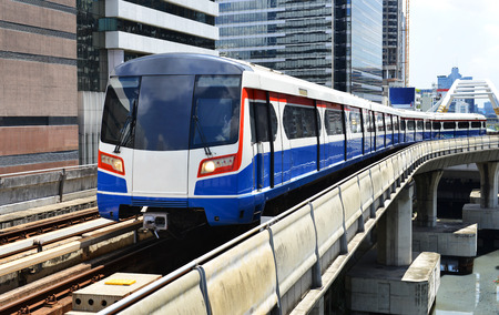 Sky train in Bangkok Editorial