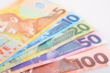 money cash: NZ Efectivo Foto de archivo