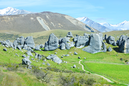The Castle hill. Southern Alps. Arthurs Pass. New Zealand photo