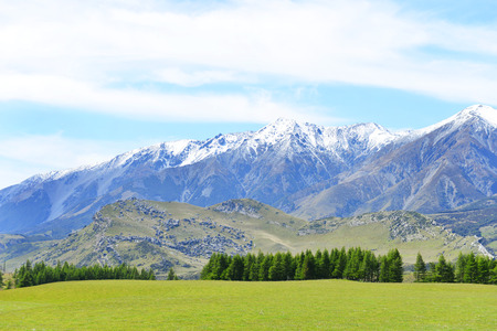 newzealand: Beautiful view of the mountain in South Island, New Zealand