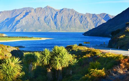 newzealand: Lake Wanaka and Lake Hawae (The neck) NewZealand