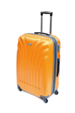 Travel luggage isolated on the white background Фото со стока