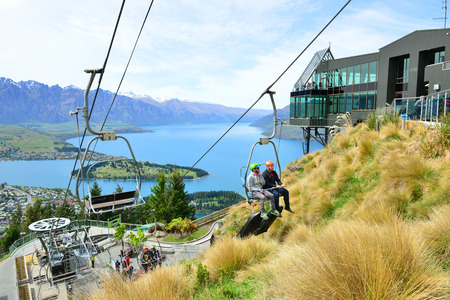 QUEENSTOWN, NZ - Nov 17:Luge and Skyline Gondola on Nov 17 2014.It\