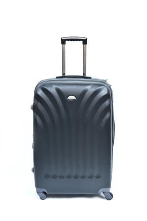 Travel luggage isolated on the white background Stok Fotoğraf