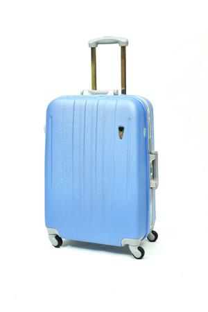 lugage: modern large suitcase on a white background Stock Photo