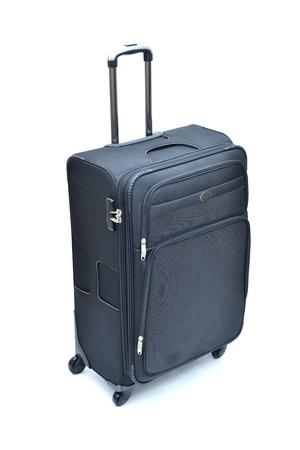 lugage: Travel luggage isolated on the white background Stock Photo
