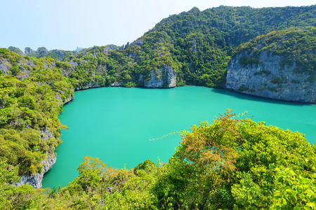 marine bird: landscape bird eye view of angthong national marine park koh samui Stock Photo