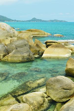 'koh samui': Beautiful stones on Lamai beach, Koh Samui, Thailand