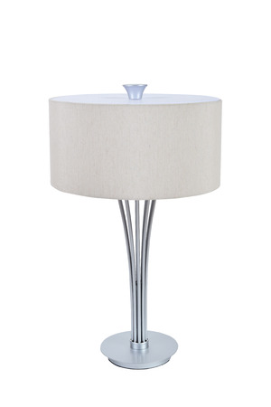 White table lamp on a white background photo