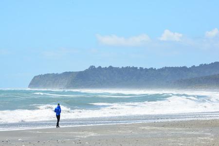 tasman: Bruce bay,Tasman Sea,South island, New Zealand