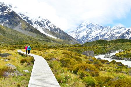 montañas nevadas: Parque Nacional de Aoraki Mount Cook