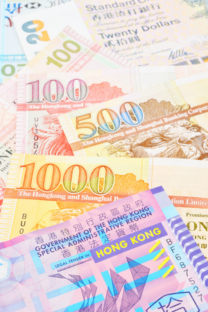bank notes: Hong Kong dollar bank notes Stock Photo