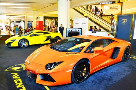 paragon: BANGKOK, THAILAND - JULY 10: New Lamborghini is showed at Siam Paragon on July 10,2015 in Bangkok,Thailand. Editorial