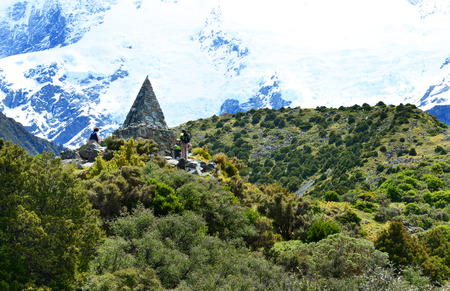 dozens: CANTERBURY, NEW ZEALAND - Nov 23: AorakiMount Cook Climbers Memorial on November 23, 2014. This memorial commemorates the dozens of climbers who have perished on the mountain since 1914. Editorial