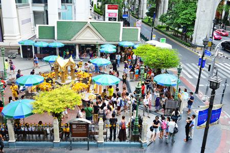 phrom: Erawan Shrine at Ratchaprasong Bangkok,Thailand Editorial