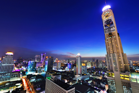 technoligy: BANGKOK, THAILAND - November1: Bangkok view, Above view from skyscraper in the city on November1, 2015 in Bangkok Thailand Editorial