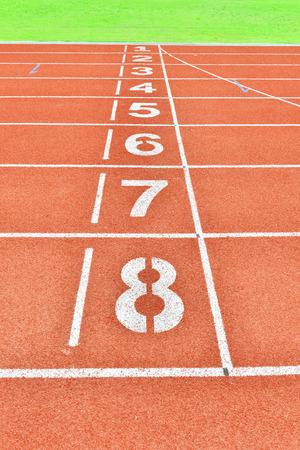 lane: Running Track Lane Numbers