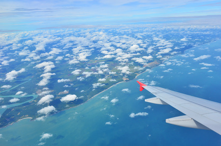 suburbian: Singapore view from the plane Stock Photo