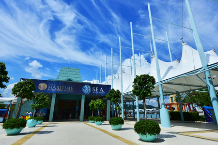 artefacts: SINGAPORE -  NOV 18, 2015:Maritime Experiential Museum. Maritime Experiential Museum is a museum in Resorts World Sentosa built to house 60,000 artefacts. Editorial
